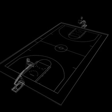 national official basketball court. 3d model 3ds max c4d ma mb other pz3 pp2 obj 94975