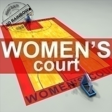 official basketball court women. 3d model 3ds max c4d ma mb other pz3 pp2 obj 95268