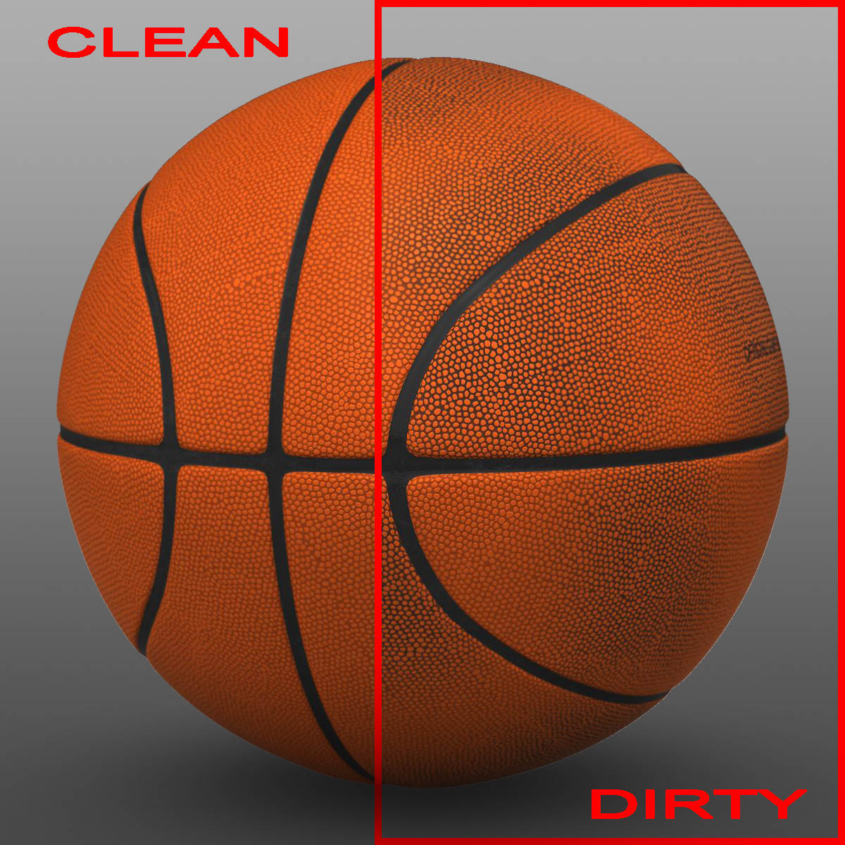 orange basketball ball 3d model 3ds max fbx c4d ma mb obj 164724