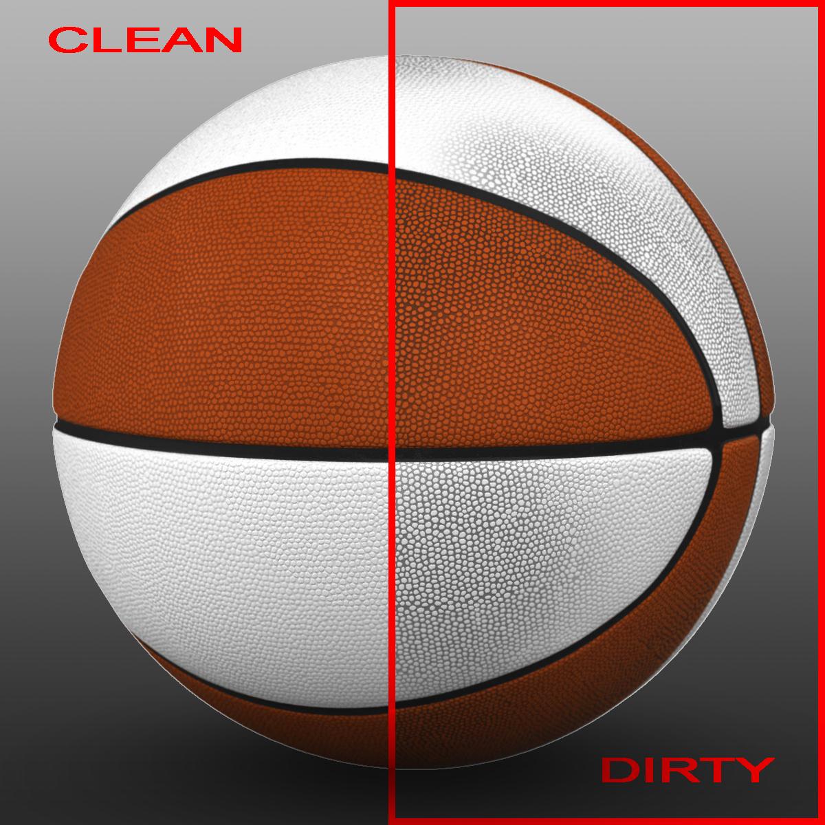 orange white basketball ball 3d model 3ds max fbx c4d ma mb obj 164941