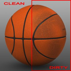 Orange basketball ball 3d model 3ds max fbx c4d ma mb obj