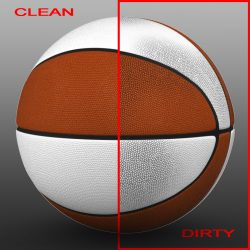 Orange white basketball ball 3d model 0