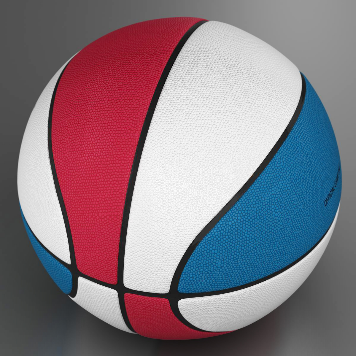 standard basketball ball 3d model 3ds max fbx c4d ma mb obj 164708