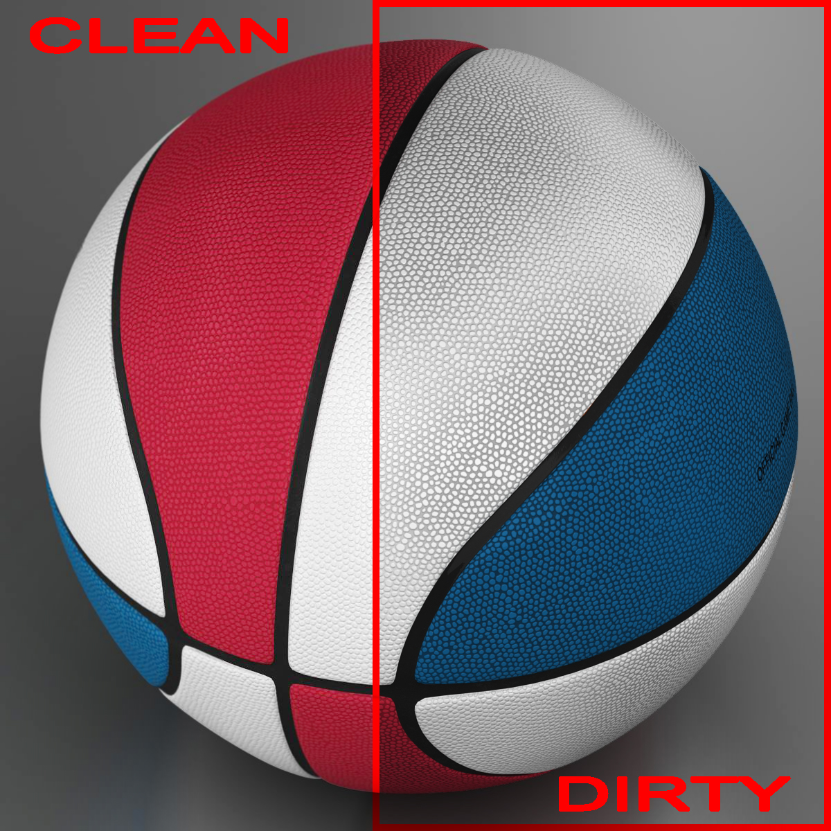 standard basketball ball 3d model 3ds max fbx c4d ma mb obj 164710