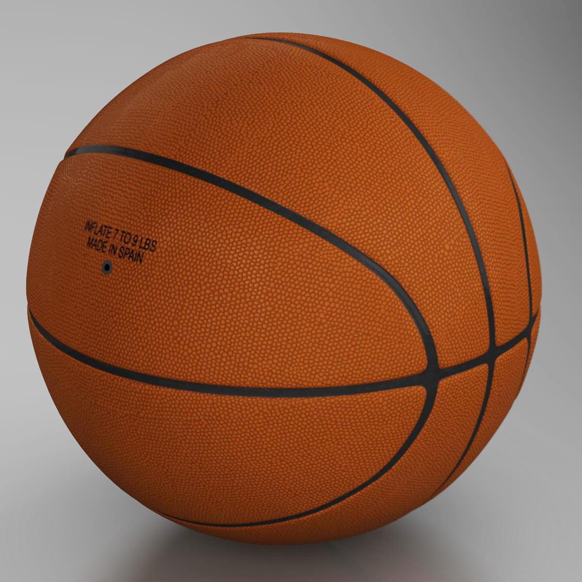 standard basketball ball 3d model 3ds max fbx c4d ma mb obj 164719