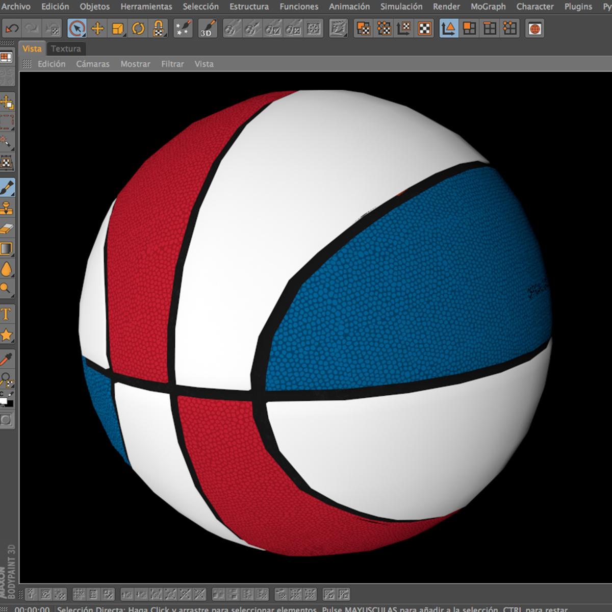 standard basketball ball 3d model 3ds max fbx c4d ma mb obj 164722