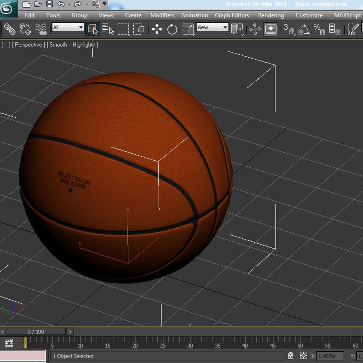 standard basketball ball 3d model 3ds max fbx c4d ma mb obj 164723