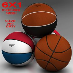 Standard basketball ball 3d model 3ds max fbx c4d ma mb obj