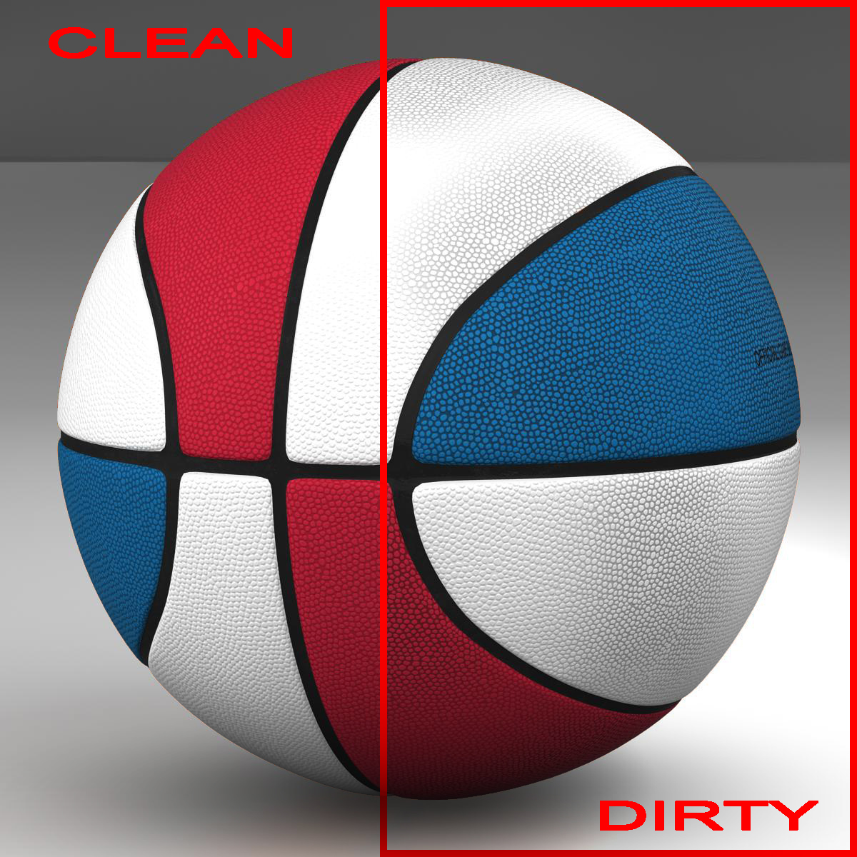 tricolor bola basket bola 3d model 3ds max fbx c4d ma mb obj 164846