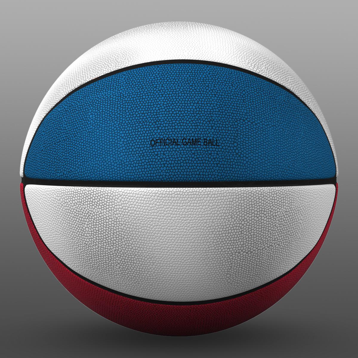 tricolor basketball ball 3d model 3ds max fbx c4d ma mb obj 164847