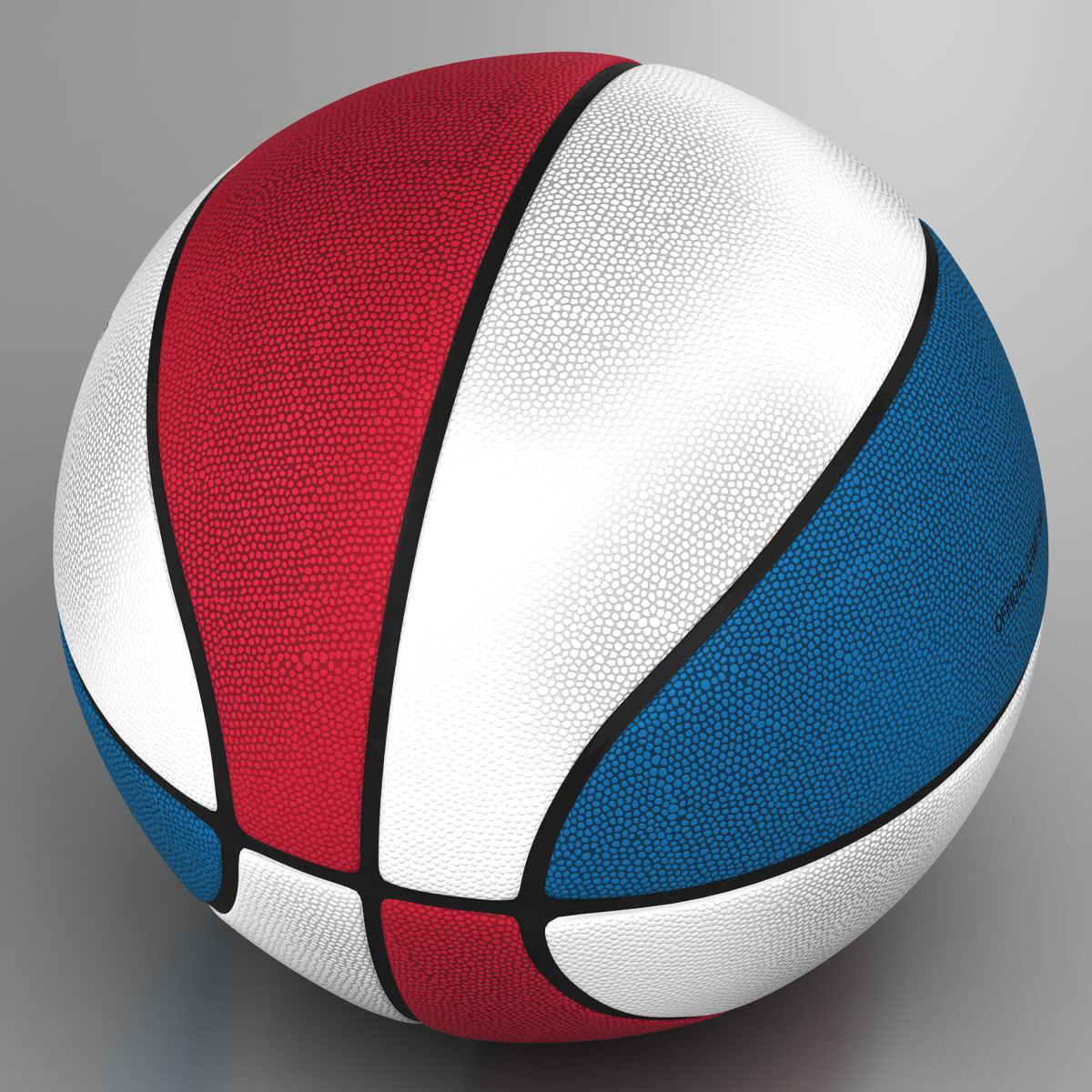 tricolor basketball ball 3d model 3ds max fbx c4d ma mb obj 164848