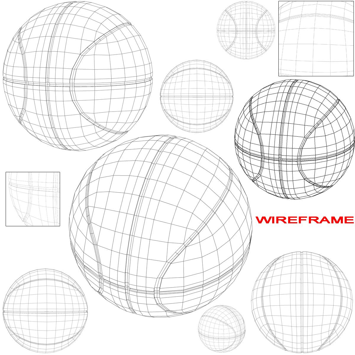 tricolor basketball ball 3d model 3ds max fbx c4d ma mb obj 164850