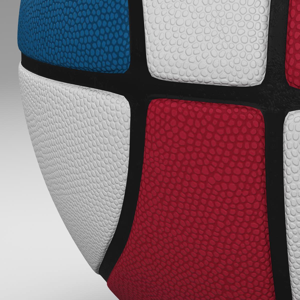 tricolor basketball ball 3d model 3ds max fbx c4d ma mb obj 164852