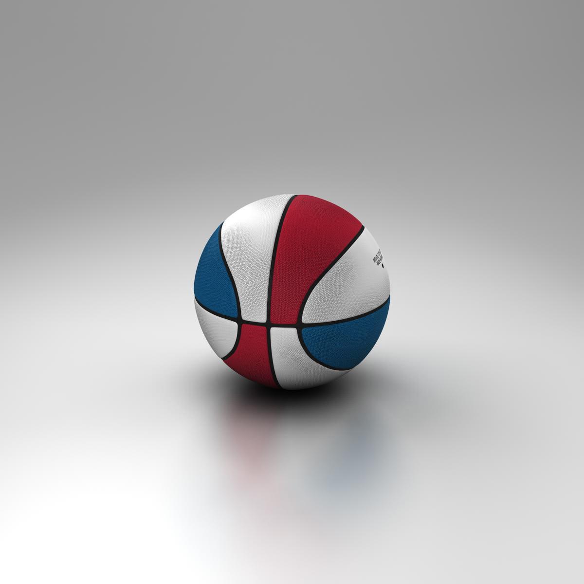 tricolor basketball ball 3d model 3ds max fbx c4d ma mb obj 164853