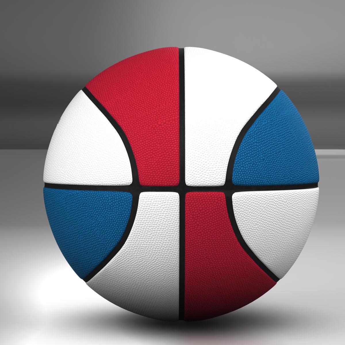 tricolor basketball ball 3d model 3ds max fbx c4d ma mb obj 164854