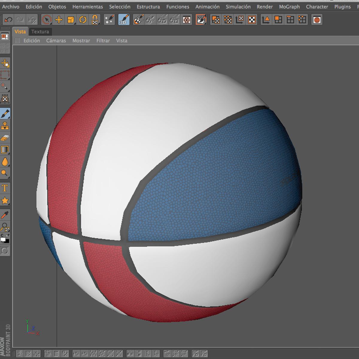 tricolor basketball ball 3d model 3ds max fbx c4d ma mb obj 164856