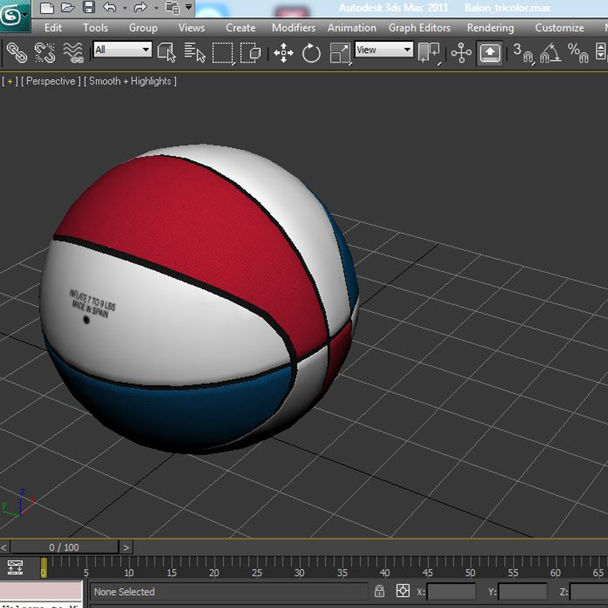 tricolor basketball ball 3d model 3ds max fbx c4d ma mb obj 164857