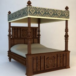 Antique Canopy Bed ( 271.16KB jpg by 3dfurniture )