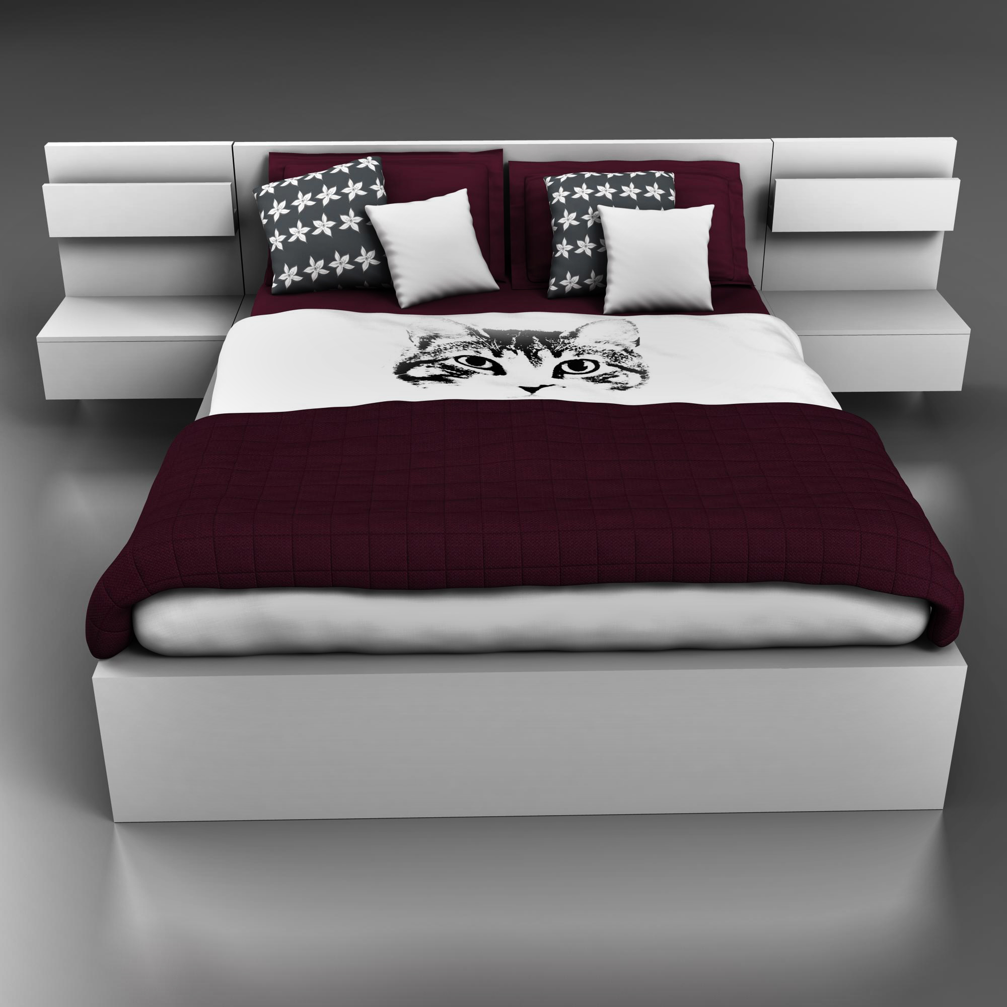 bed design 3d model 3ds max fbx ma mb obj 157298