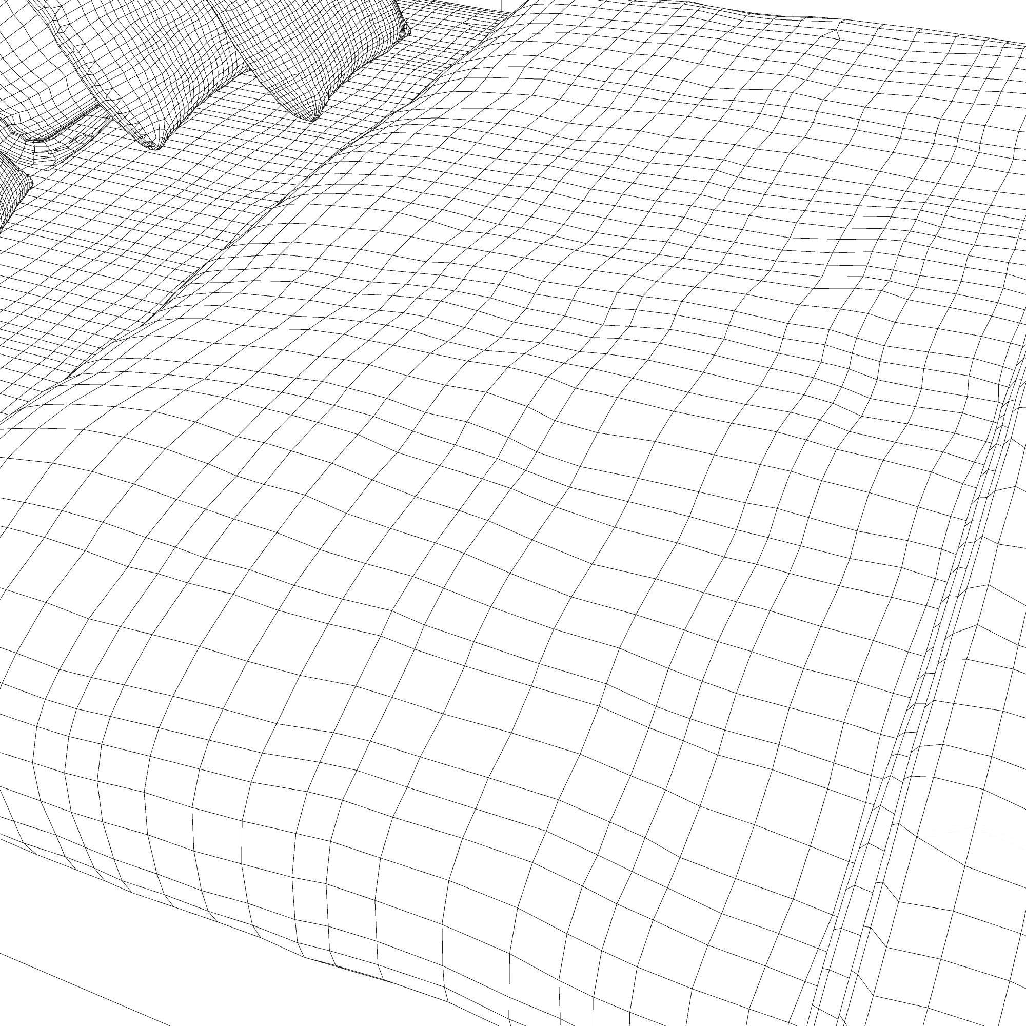 yataq dizaynı 3d model 3ds max fbx ma mb obj 157307