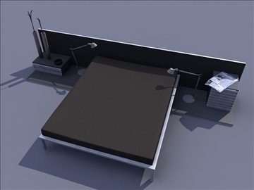 bed room set 3d model ma mb obj 82908