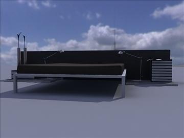 bed room set 3d model ma mb obj 82910