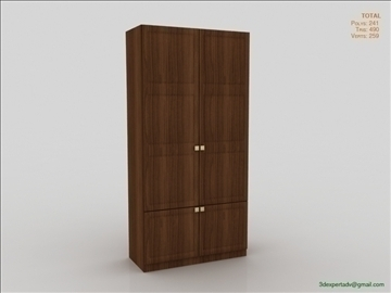 bedroom cabinet 3d model 3ds max fbx obj 111855