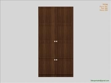bedroom cabinet 3d model 3ds max fbx obj 111857