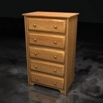 škrinja drawers.zip 3d model 3ds dxf fbx c4d x obj 93124