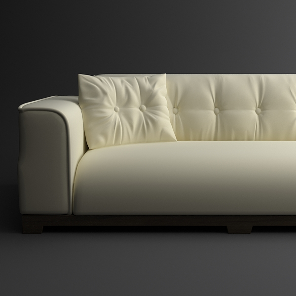 classical leather sofa 3d model 3ds max fbx texture obj 124127