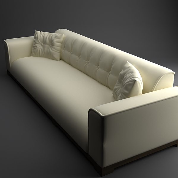 classical leather sofa 3d model 3ds max fbx texture obj 124128