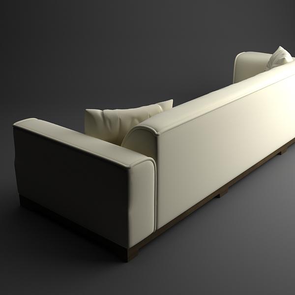 classical leather sofa 3d model 3ds max fbx texture obj 124129