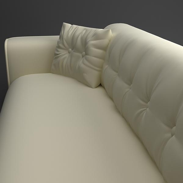 classical leather sofa 3d model 3ds max fbx texture obj 124130