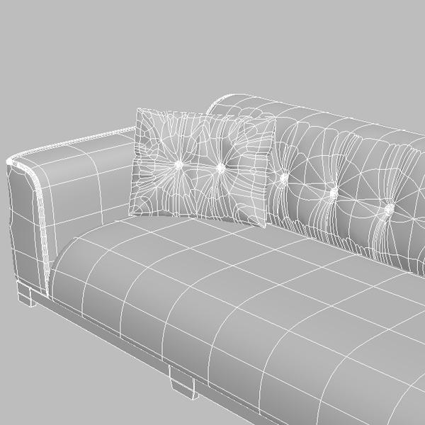 classical leather sofa 3d model 3ds max fbx texture obj 124131
