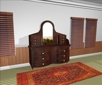 decorative dresser 3d model max 94340
