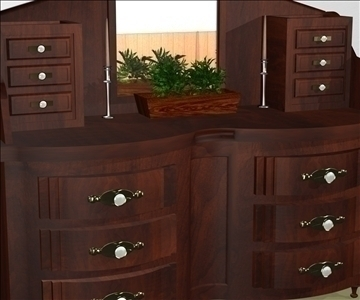 decorative dresser 3d model max 94341