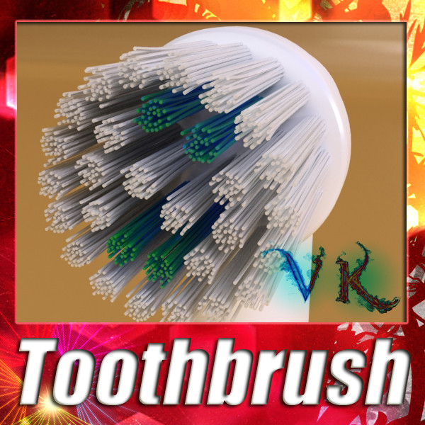 electric toothbrush high detail 3d model 3ds max fbx obj 131520