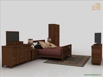 low poly luxury bedroom 3d model 3ds max fbx obj 111858
