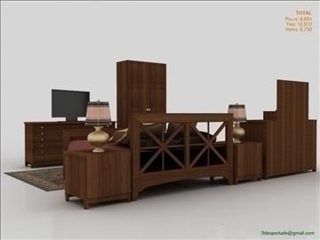 low poly luxury bedroom 3d model 3ds max fbx obj 111860