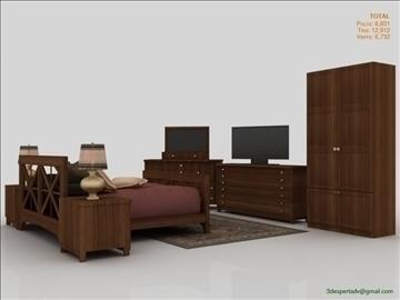 low poly luxury bedroom 3d model 3ds max fbx obj 111861