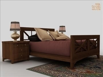 low poly luxury bedroom 3d model 3ds max fbx obj 111862