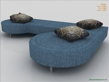 low poly sofa 3d model 3ds max fbx obj 111850