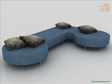 low poly sofa 3d model 3ds max fbx obj 111851