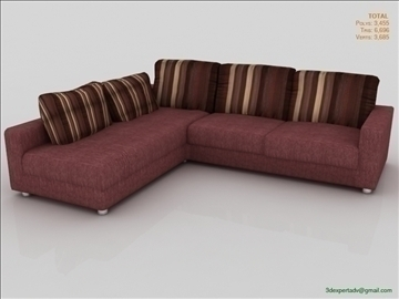 low poly sofa furniture 3d model 3ds max fbx obj 111847