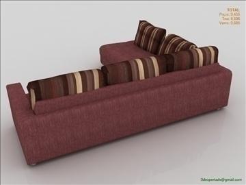 low poly sofa furniture 3d model 3ds max fbx obj 111848