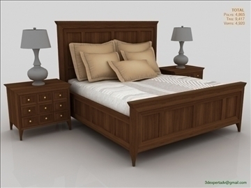 luxury low poly bed 3d model 3ds max fbx obj 106462