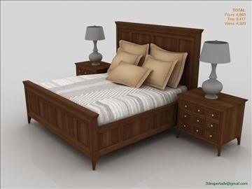 luxury low poly bed 3d model 3ds max fbx obj 106463