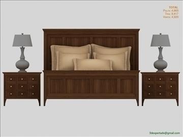luxury low poly bed 3d model 3ds max fbx obj 106464