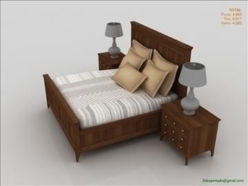 luxury low poly bed 3d model 3ds max fbx obj 106465