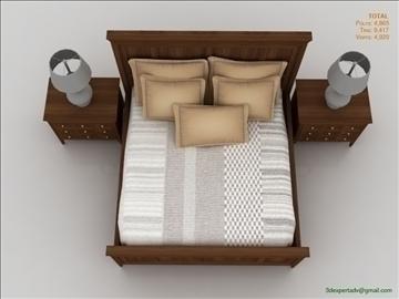 luxury low poly bed 3d model 3ds max fbx obj 106466